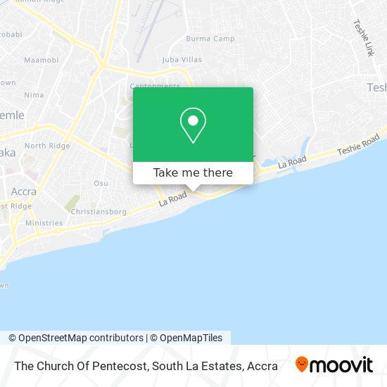 The Church Of Pentecost, South La Estates map