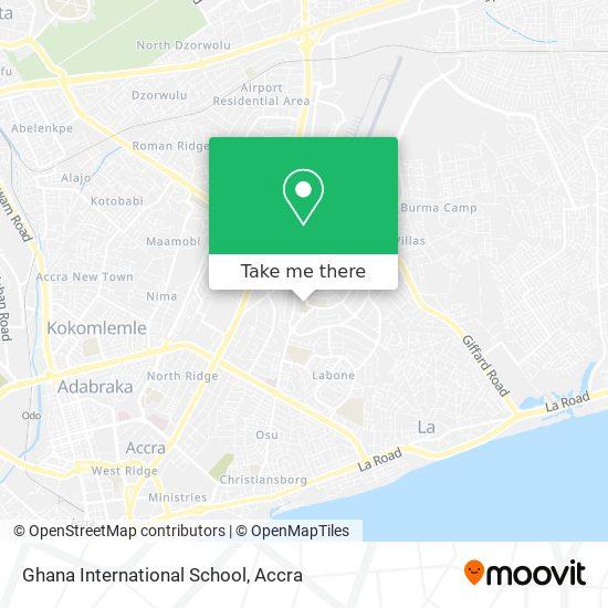 Ghana International School map