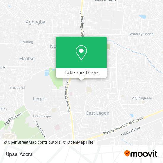 Upsa map