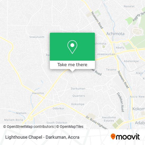 Lighthouse Chapel - Darkuman map
