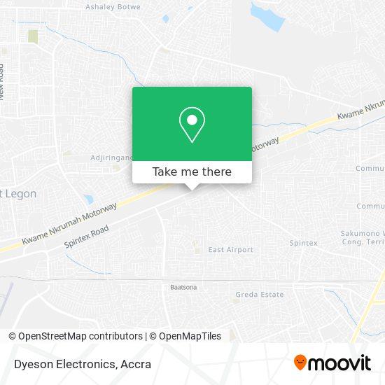 Dyeson Electronics map