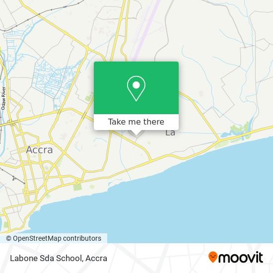 Labone Sda School map