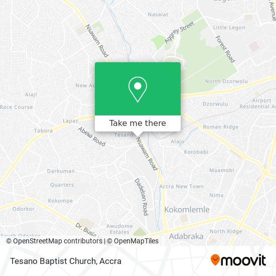 Tesano Baptist Church map