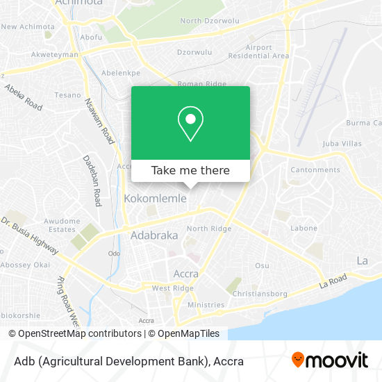 Adb (Agricultural Development Bank) map