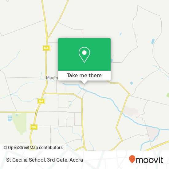 St Cecilia School, 3rd Gate map