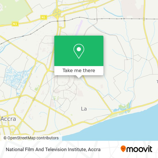 National Film And Television Institute map