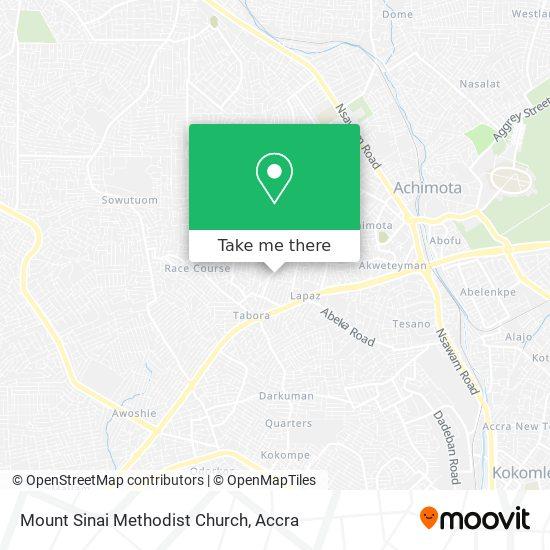 Mount Sinai Methodist Church map