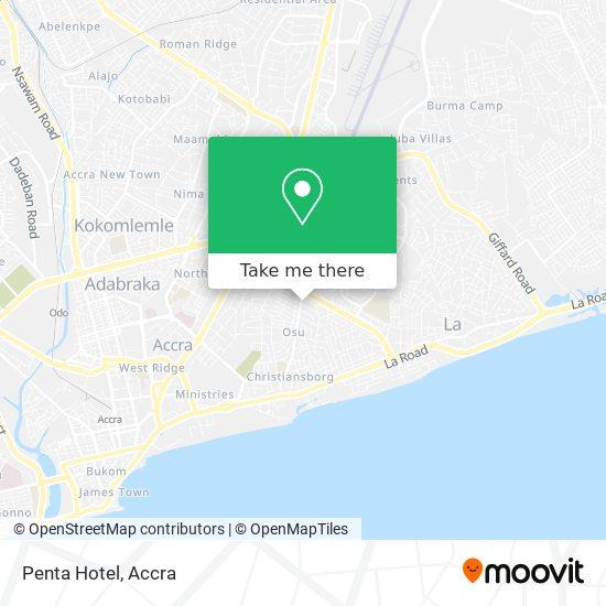 Penta Hotel map