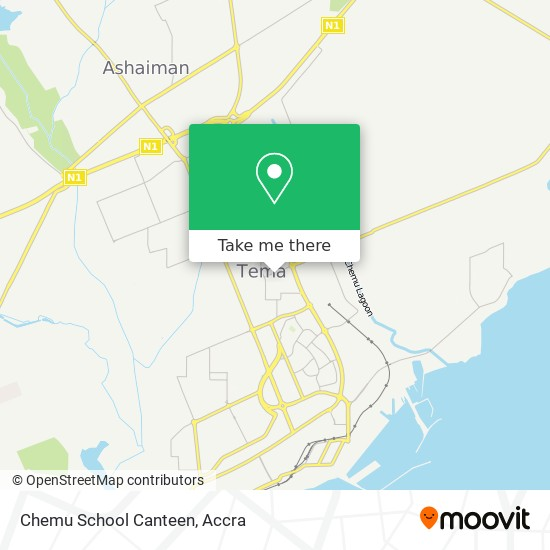 Chemu School Canteen map
