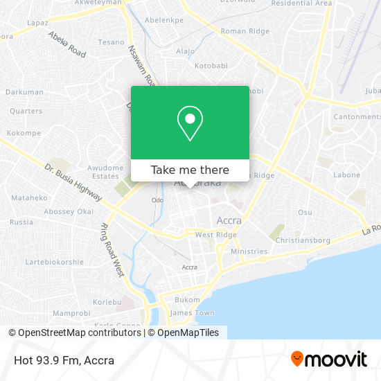 Hot 93.9 Fm map