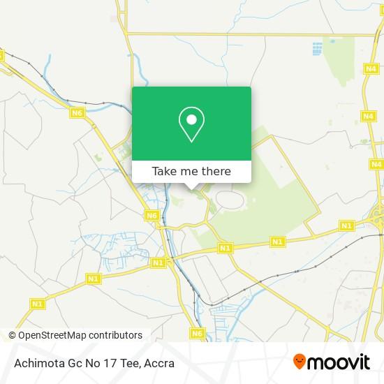 Achimota Gc No 17 Tee map