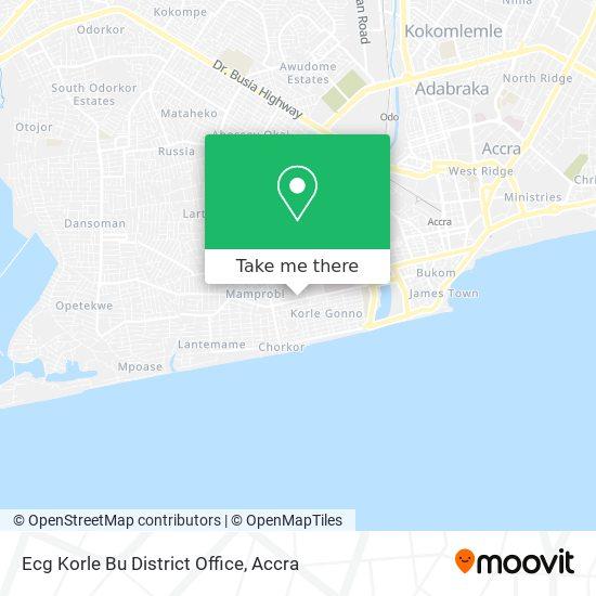 Ecg Korle Bu District Office map
