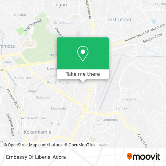 Embassy Of The Republic Of Liberia map