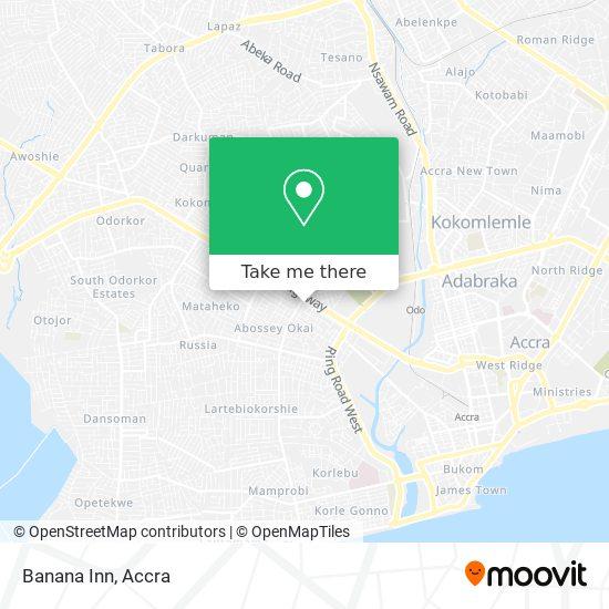 Banana Inn map