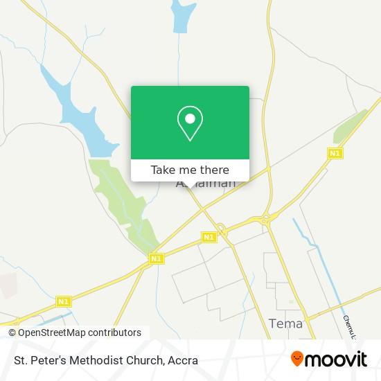 St. Peter's Methodist Church map