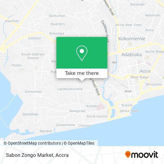Sabon Zongo Market map