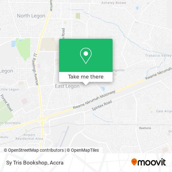 Sy Tris Bookshop map