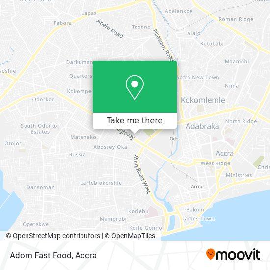 Adom Fast Food map