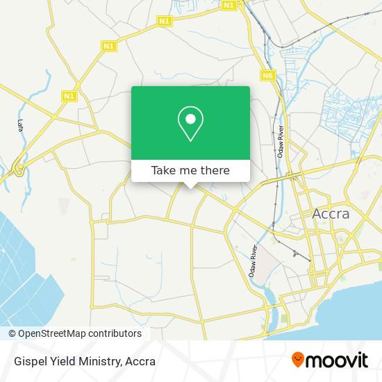 Gispel Yield Ministry map