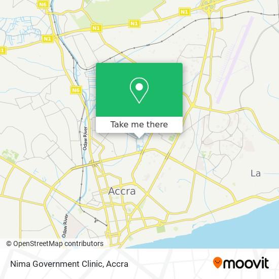 Nima Government Clinic map