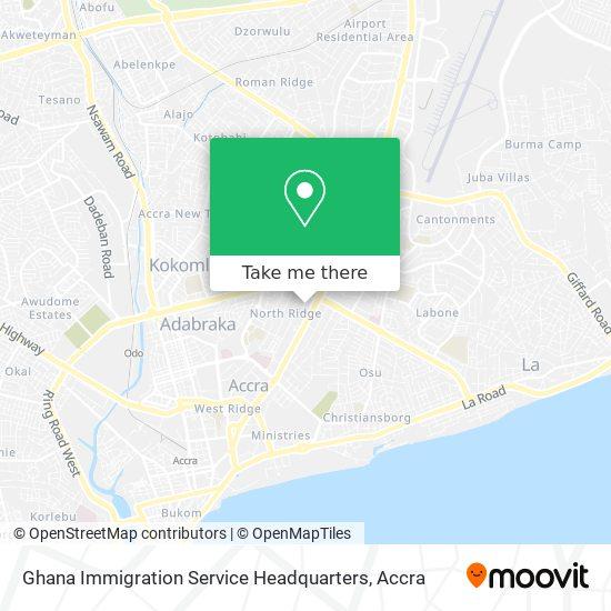 Ghana Immigration Service Headquarters map