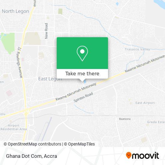 Ghana Dot Com map