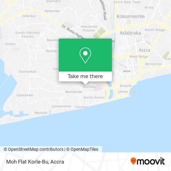 Moh Flat Korle-Bu map
