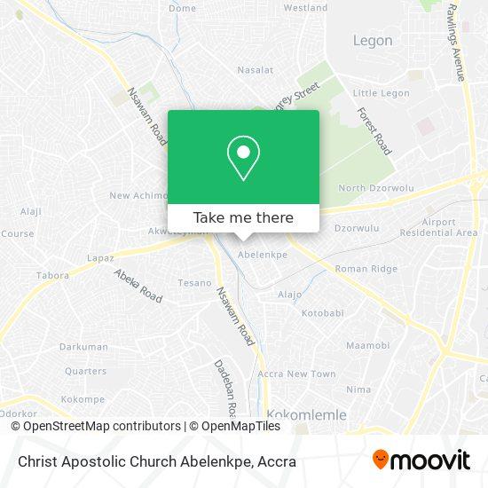 Christ Apostolic Church Abelenkpe map