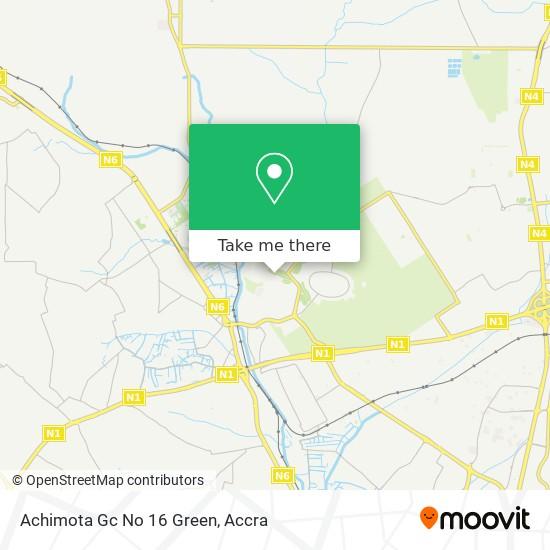Achimota Gc No 16 Green map