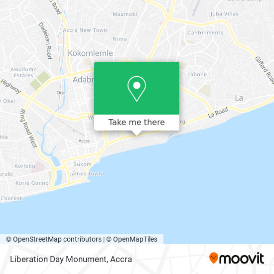 Liberation Day Monument map