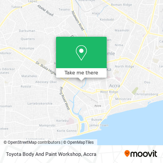 Toyota Body And Paint Workshop map