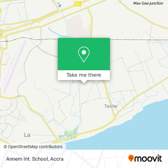 Annem Int. School map