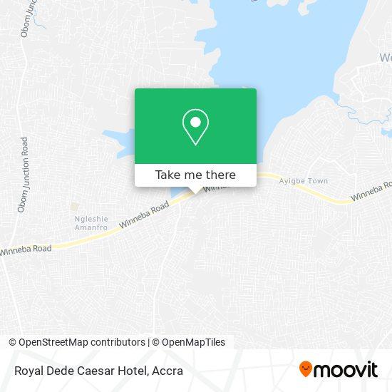 Royal Dede Caesar Hotel map