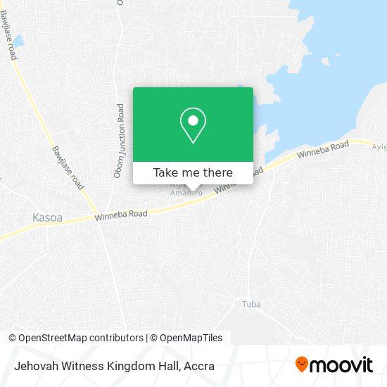 Jehovah Witness Kingdom Hall map