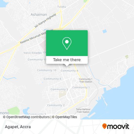 Agapet map