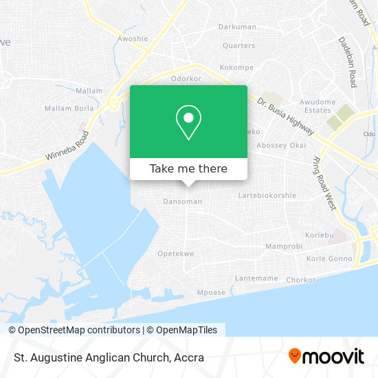 St. Augustine Anglican Church map