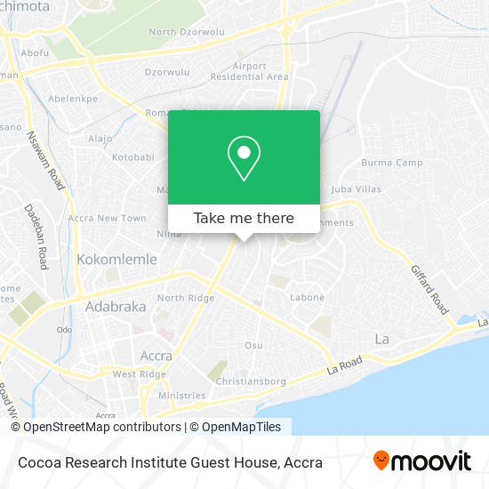 Cocoa Research Institute Guest House map