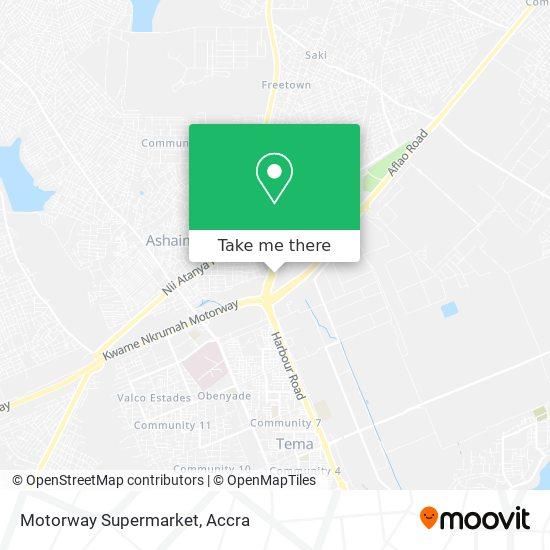 Motorway Supermarket map