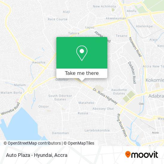 Auto Plaza - Hyundai map