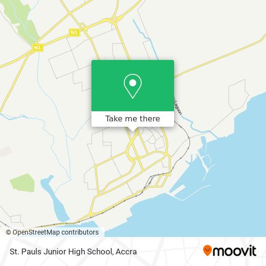 St. Pauls Junior High School map