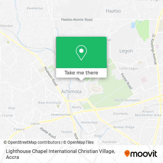 Lighthouse Chapel International Christian Village map