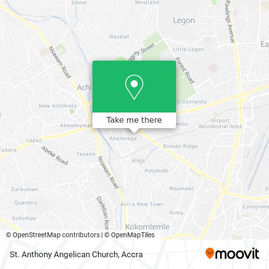St. Anthony Angelican Church map