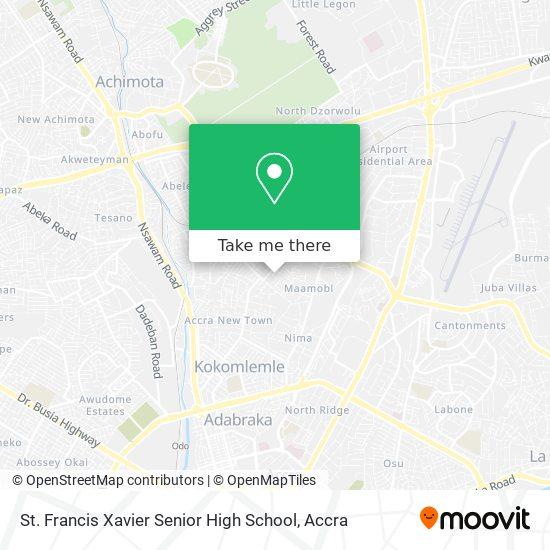 St. Francis Xavier Senior High School map