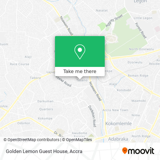 Golden Lemon Guest House map