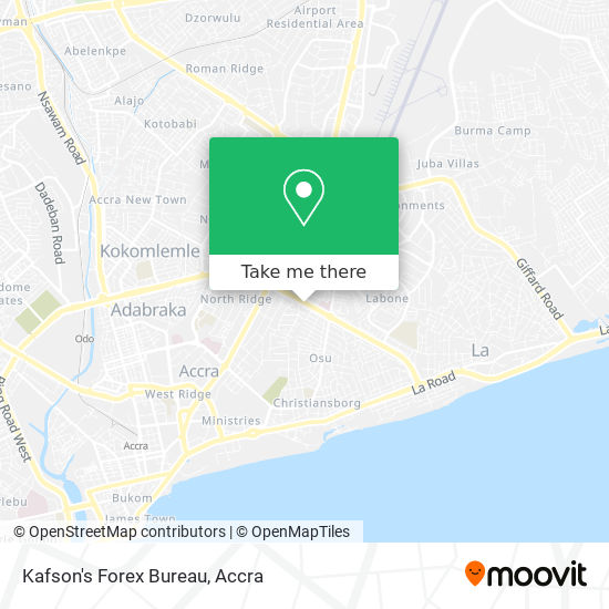 Kafson's Forex Bureau map