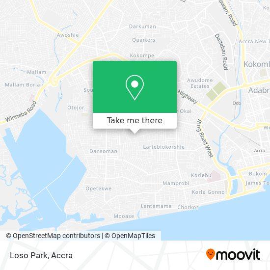 Loso Park map