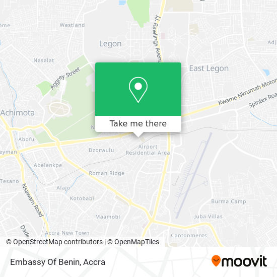 Embassy Of The Republic Of Benin map