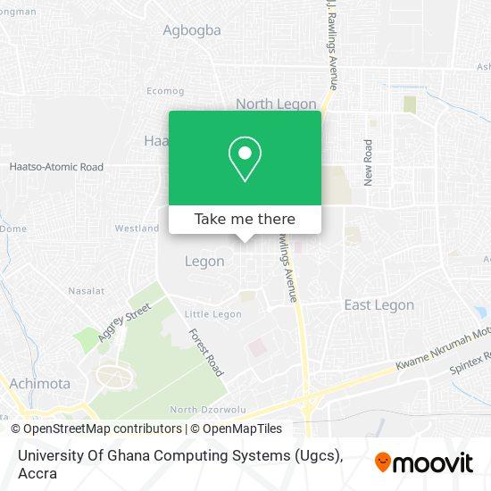University Of Ghana Computing Systems (Ugcs) map