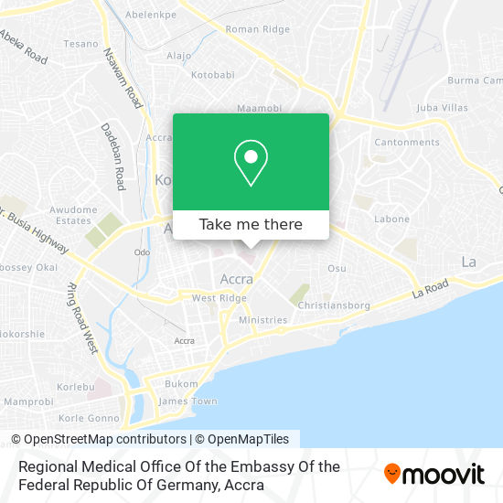 Regional Medical Office Of The Embassy Of The Federal Republic Of Germany map