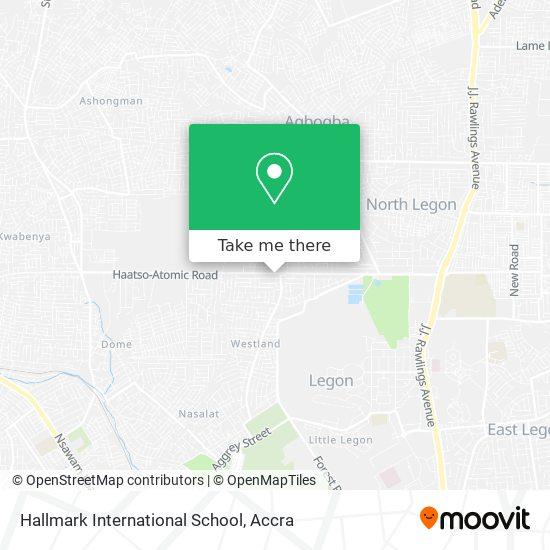 Hallmark International School map